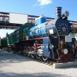 Stock Photo: Old train locomotive