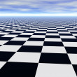 Chess black and white infinite floor — Stock Photo #2079364