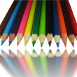 Color pencils with mirror reflection — Stock Photo #2081836