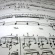 Close-up musical notes - Stock Photo