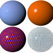 Stock Photo: Colored pattern globe spheres