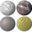 Colored abstract pattern stone spheres — Stockfoto
