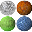 Colored abstract pattern stone spheres — Stock Photo