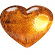 3D golden heart classic love symbol — Stock Photo