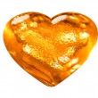 3D golden pattern heart love symbol - Stock Photo