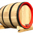 Wooden barrel for wine isolated — Stock Photo #2087237