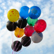 Bunch of colored party balloons — Stock Photo