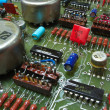 Foto Stock: Old circuit board from 80th