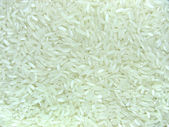 Foodstuff close up white organic rice — Stock Photo