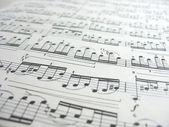 Close-up musical notes — Stock Photo