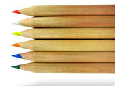 Color pencils with shadow isolated — Stock Photo