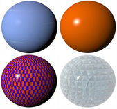 Colored pattern globe spheres — Stock Photo