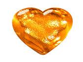 3d-gouden patroon liefde hartsymbool — Stockfoto