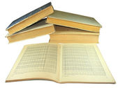 Old yellow books with Mathematics tables — Stock Photo