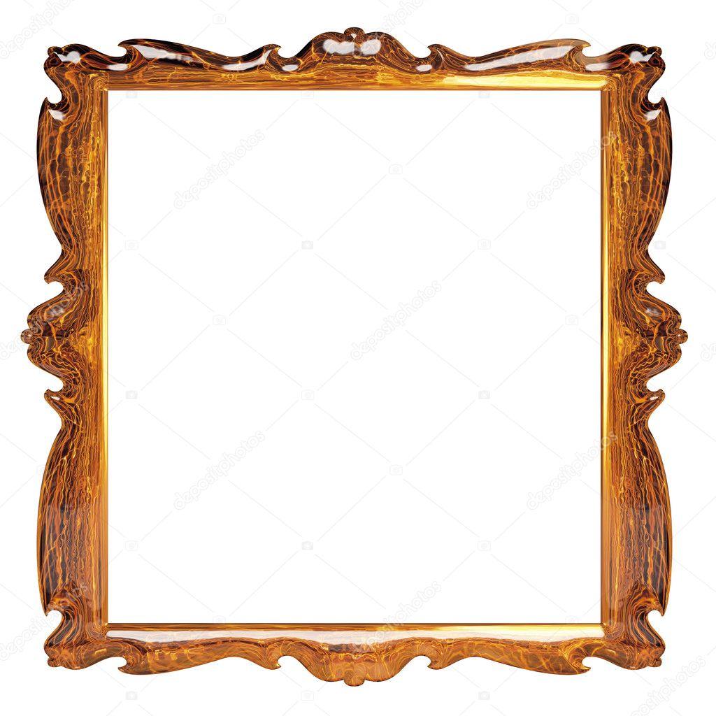 琥珀色的装饰图案与空白图片框 — 照片作者 arogant