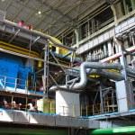 Machinery, tubes and steam turbine — Stock Photo #2257215