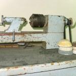 Ancient old rusty turning lathe — Stock Photo