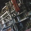 Stock Photo: Steam turbines, machinery, pipes, tubes