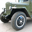 Stock Photo: Aged green military lorry truck