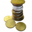 Pile of old coins - Stock Photo