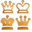 Stock Photo: Four abstract golden pattern crown