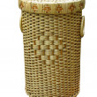 Stock Photo: Wickerwork wood basket isolated