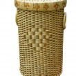 Wickerwork wood basket isolated — Stock Photo #2257922