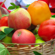 Harvesting apples, leaves sweet peppers — Stock Photo #2258016