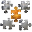 Golden ang chrome metallic patter puzzle — Stock Photo