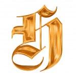 altın deseni gothic harfi h — Stok fotoğraf #2258163