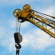 Building crane detail against blue sky — Stock Photo