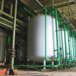 Line of industrial chemical tanks — Stock Photo #2258268