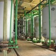 Line of industrial chemical tanks — Stock Photo
