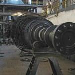 Steam turbine during repair, machinery — Stock Photo #2258303