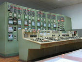 Control panel at electric power plant — Stock Photo