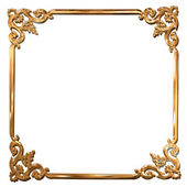 Abstract golden floral frame concept — Stock Photo