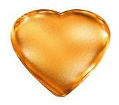 Golden pattern 3d heart - love symbol — Stock Photo