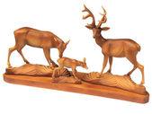 Figurine d'une famille de cerf - décoration pour la maison — Photo