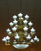 Ornate chandelier luster theater — 图库照片