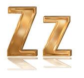3d golden font, letter Z — Stock Photo