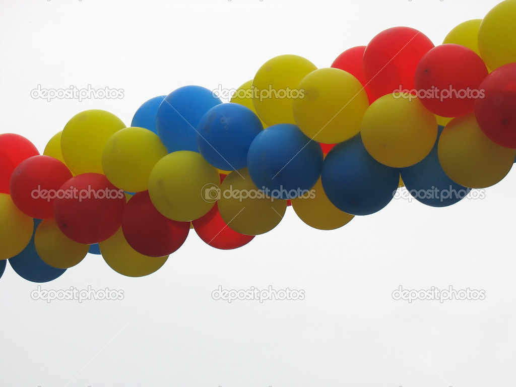 Group of colorful celebration or birthday party balloons — Stock Photo #2257825