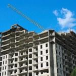 New apartment house construction — Stock Photo