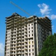 Stock Photo: New apartment house construction