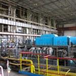 Machinery, tubes and steam turbine — Stock Photo #2273520