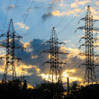 Electric Power Transmission Lines — Stockfoto