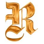 altın deseni Gotik harf r — Stok fotoğraf