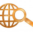 Royalty-Free Stock Photo: Abstract golden global search icon