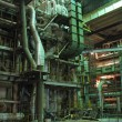 Stock Photo: Machinery, pipes, tubes, steam turbine