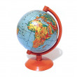 Old school globe on a support isolated — Stock Photo