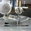 Old industrial sewing machine detail — Stock Photo